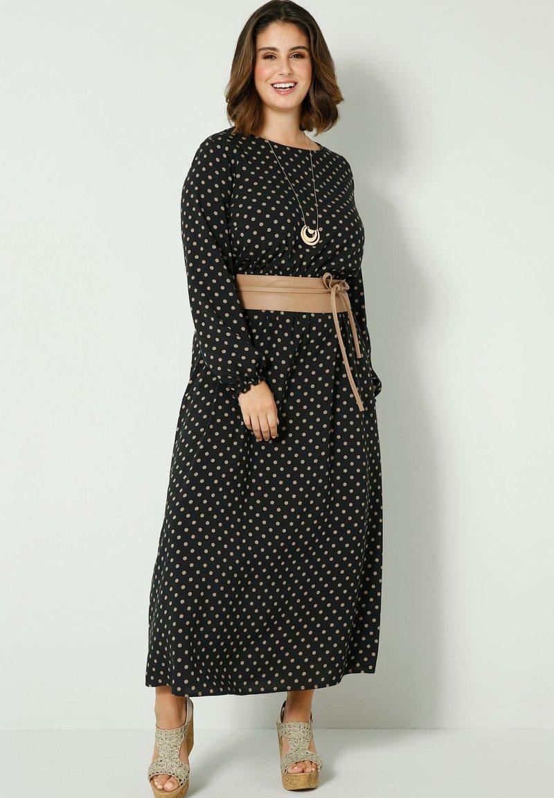 Sara Lindholm - Maxi dress - schwarz/sand