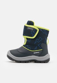 Geox - FLANFIL BOY WPF - Winter boots - navy/lime - 0