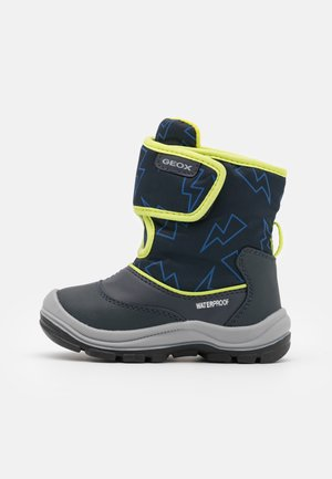 FLANFIL BOY WPF - Winter boots - navy/lime