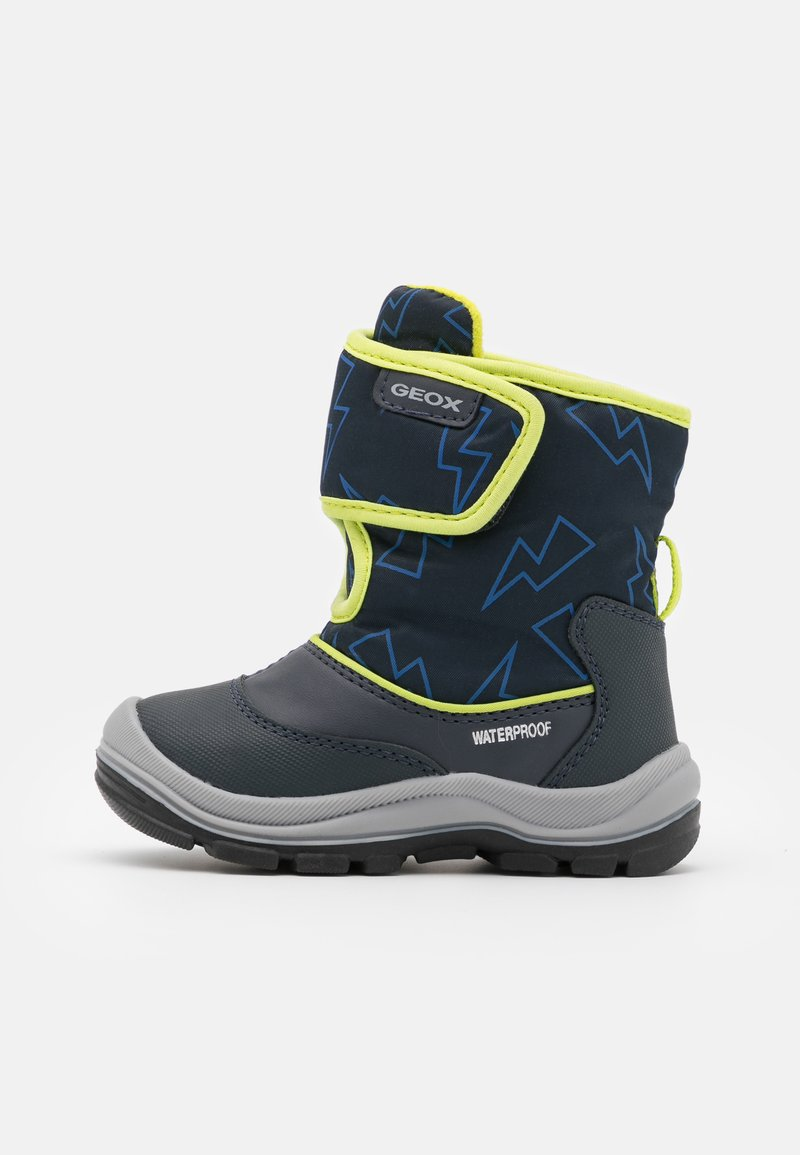 Geox - FLANFIL BOY WPF - Winter boots - navy/lime
