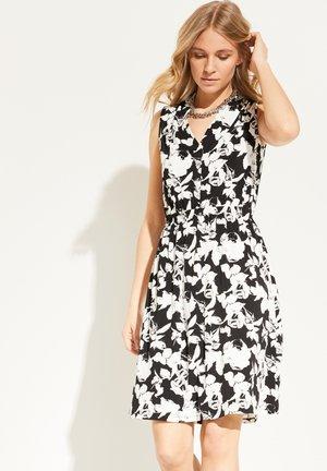 Jersey dress - black floral print