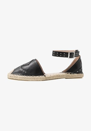 SHELBY - Espadrilky - black