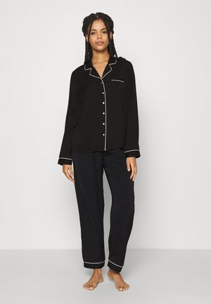 AMANDA LONG PJ SET - Pyjamas - black