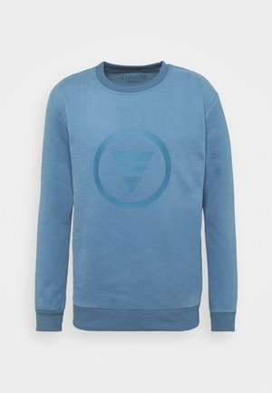 ROUND NECK  CHEST PRINT - Sudadera - light blue