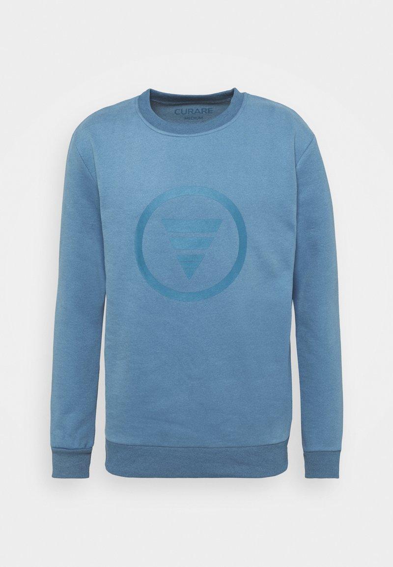 Curare Yogawear - ROUND NECK  CHEST PRINT - Sudadera - light blue