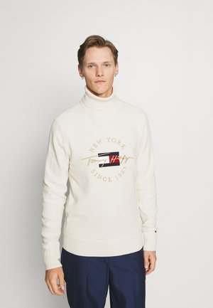 ICON STRUCTURE ROLL NECK - Jumper - ivory