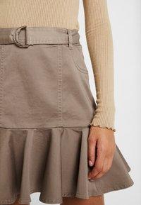 River Island - PRISCILLA FRILL HEM - A-line skirt - stone - 3