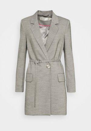 Short coat - concrete melange