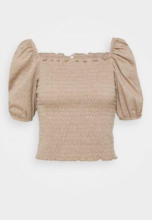 ONLNALENA PUFF SMOCK - Print T-shirt - almondine