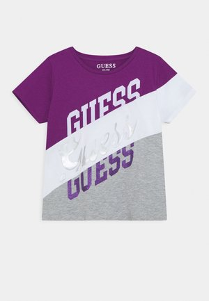 JUNIOR - T-shirt print - grey/violet