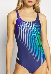 Arena - OPTICAL WAVES SWIM PRO BACK ONE PIECE - Swimsuit - navy/provenza - 5