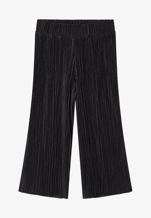 MIT WEITEM BEIN - Spodnie materiałowe - black