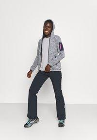 CMP - WOMAN FIX HOOD JACKET - Fleece jacket - titanio/bianco - 1