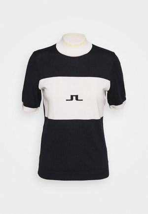 VALERIE STRIPED GOLF - T-shirt z nadrukiem - navy