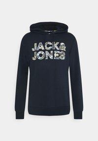 Jack & Jones - JJFLEUR HOOD - Sweatshirt - navy blazer - 0