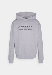 Mennace - CLUB TENNIS COURT HOODIE UNISEX - Sweatshirt - grey marl - 4