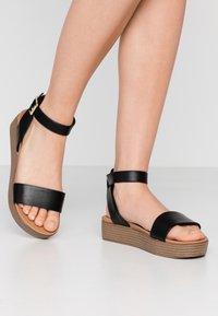 New Look - GENIUS - Sandalias con plataforma - black - 0