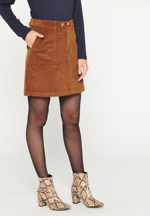 A-line skirt - havana brown