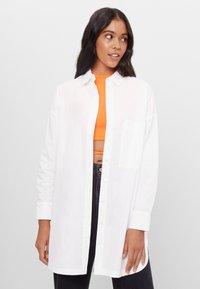 Bershka - Button-down blouse - white - 0