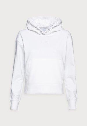 LOGO TRIM HOODIE - Hættetrøjer - white