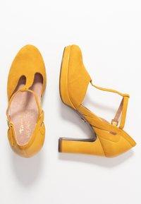 Tamaris Heart & Sole - WOMS SLIP-ON - Lodičky na vysokém podpatku - sun - 3