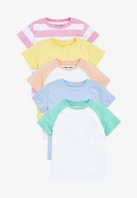 Next - 5 PACK - Print T-shirt - white - 0