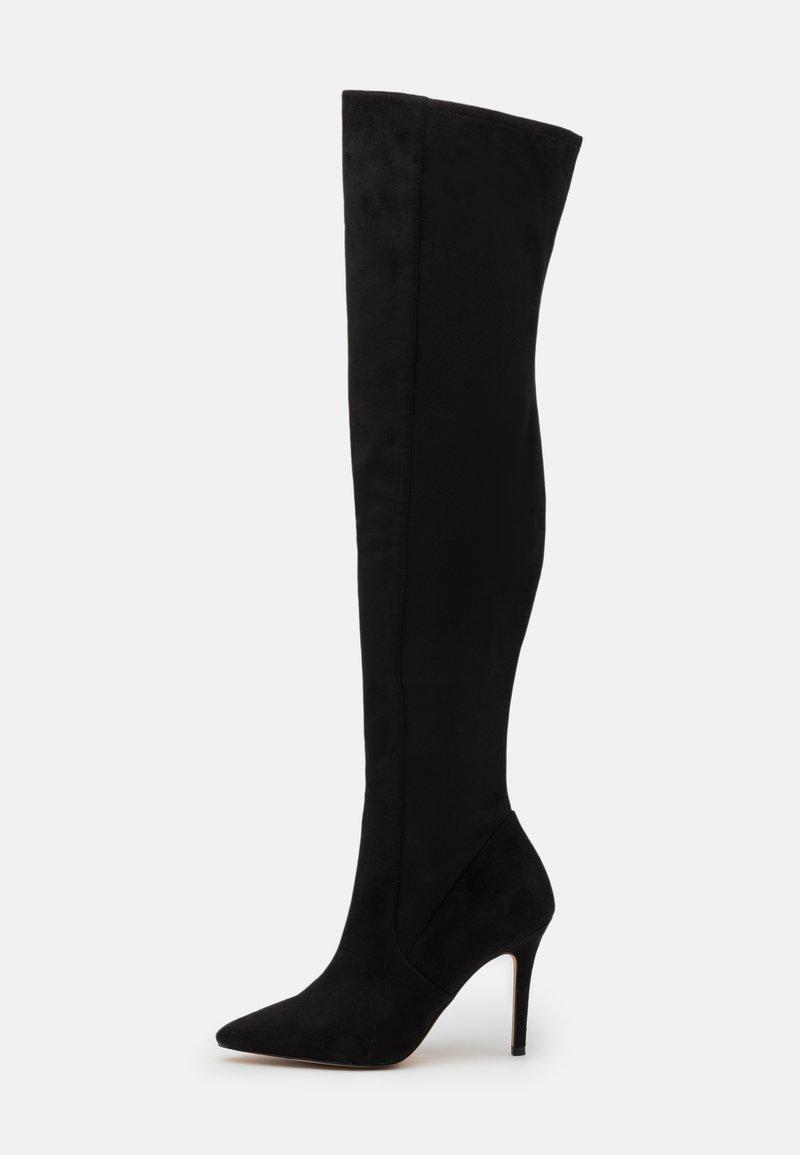 ALDO - IDEEZA - Overknee laarzen - open black