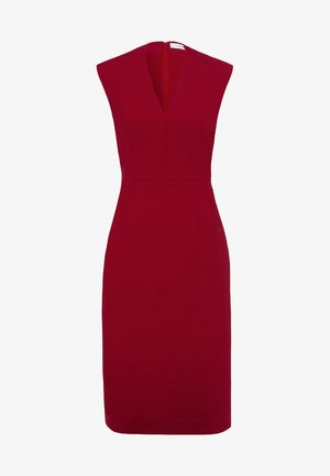 HIGH COLLAR DRESS - Shift dress - cassis sorbet