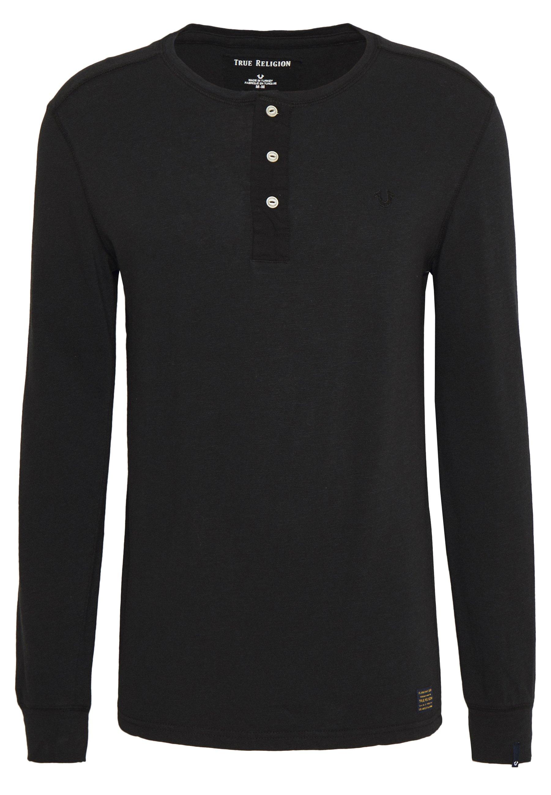 True Religion BUTTONFLY  - T-shirt à manches longues - black