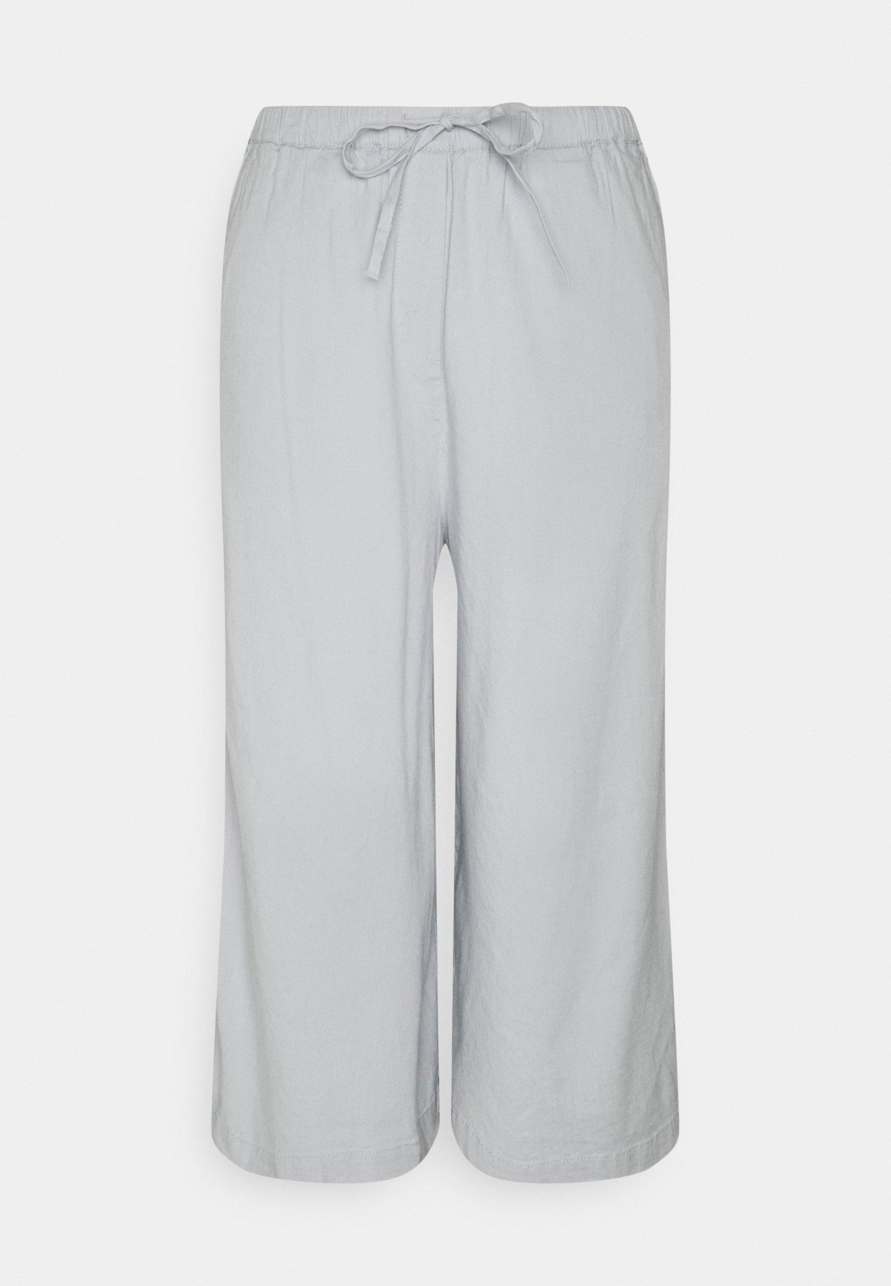 Damer PANTS CULOTTE STYLE WIDE LEG DETAILED WAISTBAND - Bukser