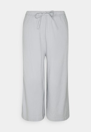 PANTS CULOTTE STYLE WIDE LEG DETAILED WAISTBAND - Trousers - spring water