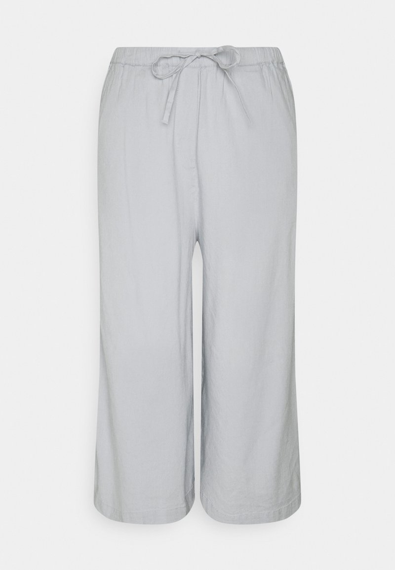 Marc O'Polo - PANTS CULOTTE STYLE WIDE LEG DETAILED WAISTBAND - Trousers - spring water