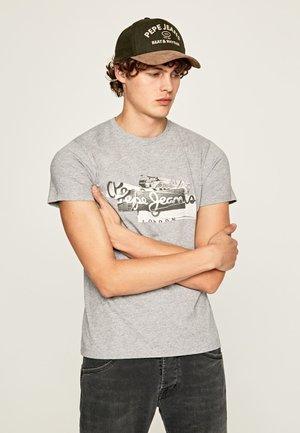 BOBBY - T-Shirt print - gris marl