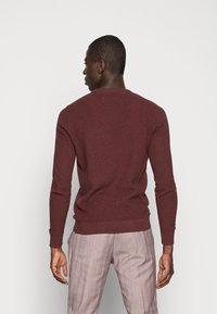Pier One - Stickad tröja - mottled bordeaux - 2