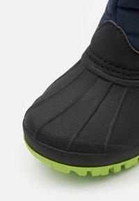 KangaROOS - K-BEN - Winter boots - dark navy/lime - 5