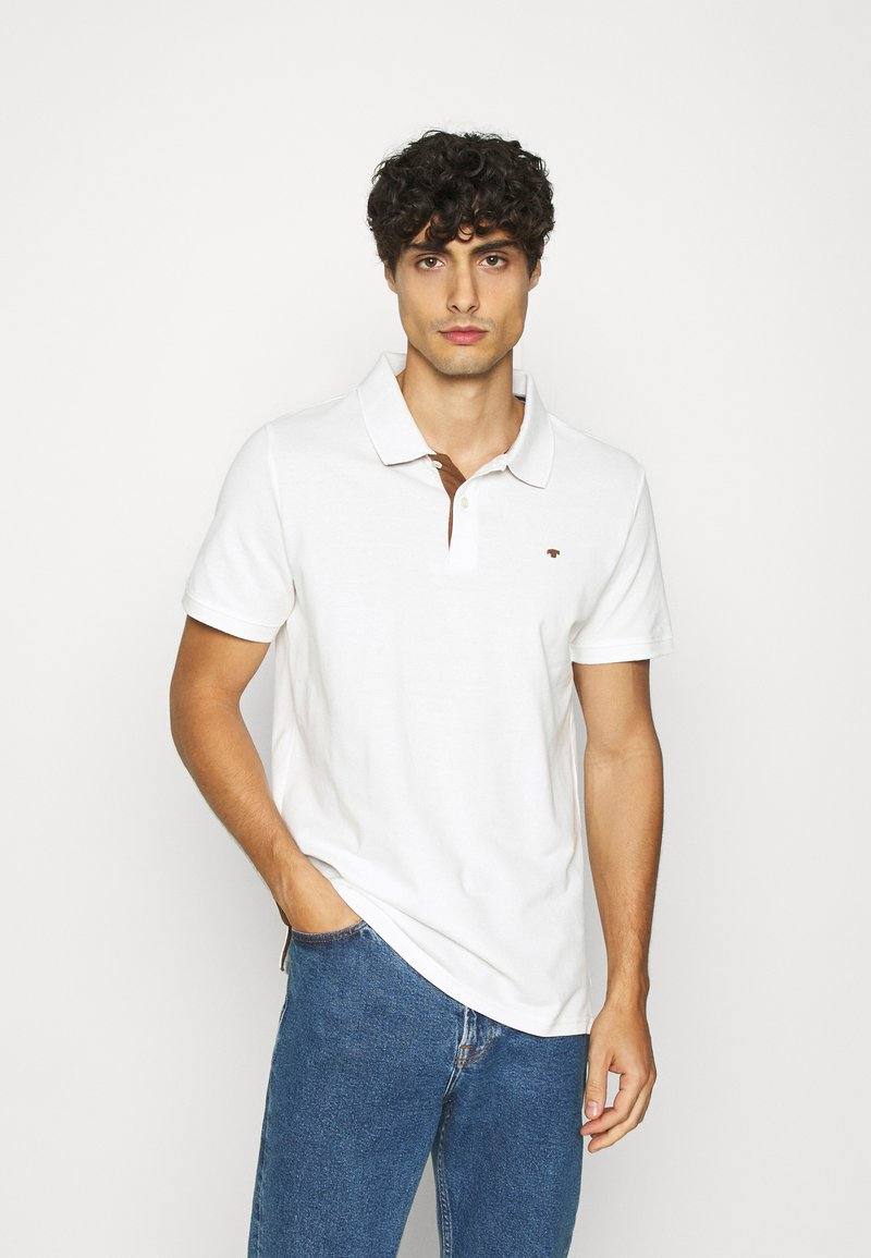 TOM TAILOR - BASIC WITH CONTRAST - Poloshirts - off white