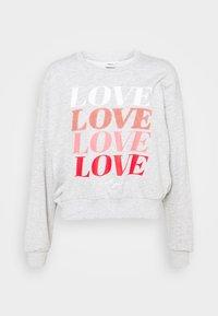ONLLOVE LIFE O NECK - Sweatshirt - light grey