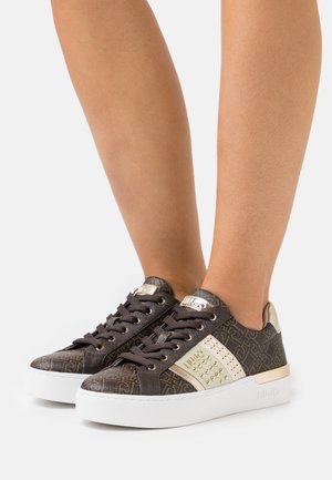 SILVIA  - Sneakers laag - brown