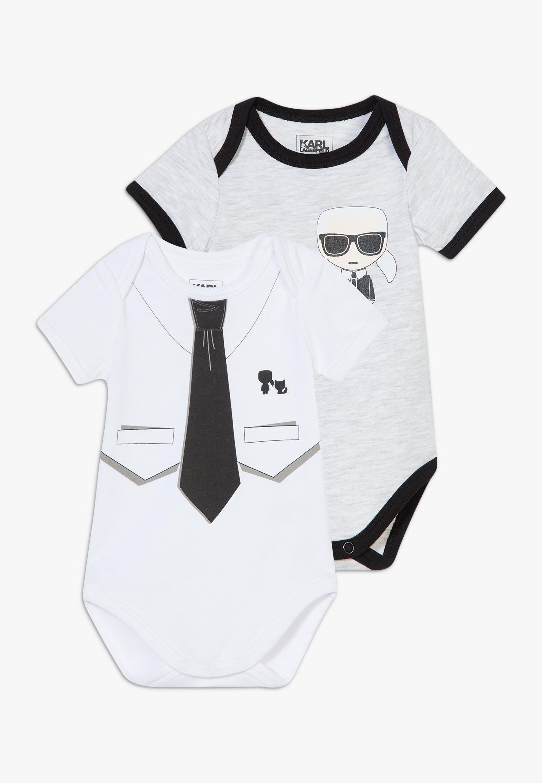 Najlepiej sprzedający się Zakupy KARL LAGERFELD BABY 2 PACK - Body - grey/white | Dzieci Odzież 2020 Izkwo