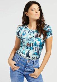 Guess - Print T-shirt - hellblau - 0