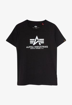 BASIC - T-shirt con stampa - black