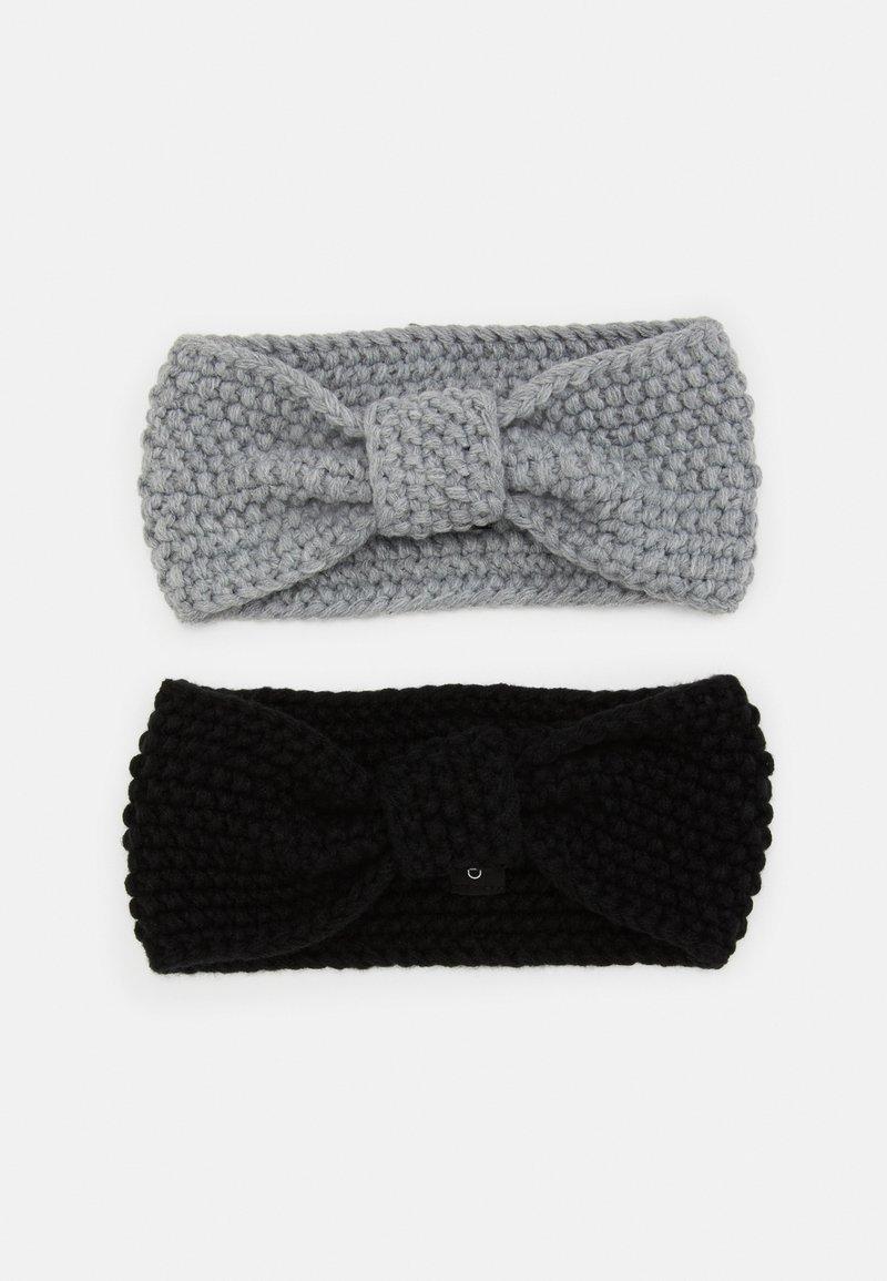 Even&Odd - 2 PACK - Ear warmers - black/grey