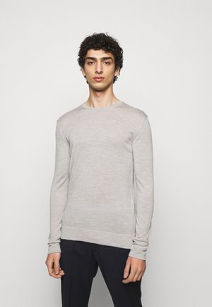 CREW NECK - Jumper - stone grey melange