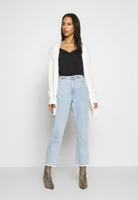 Missguided - EXTREME RIB BELTED CARDIGAN - Cardigan - cream - 1