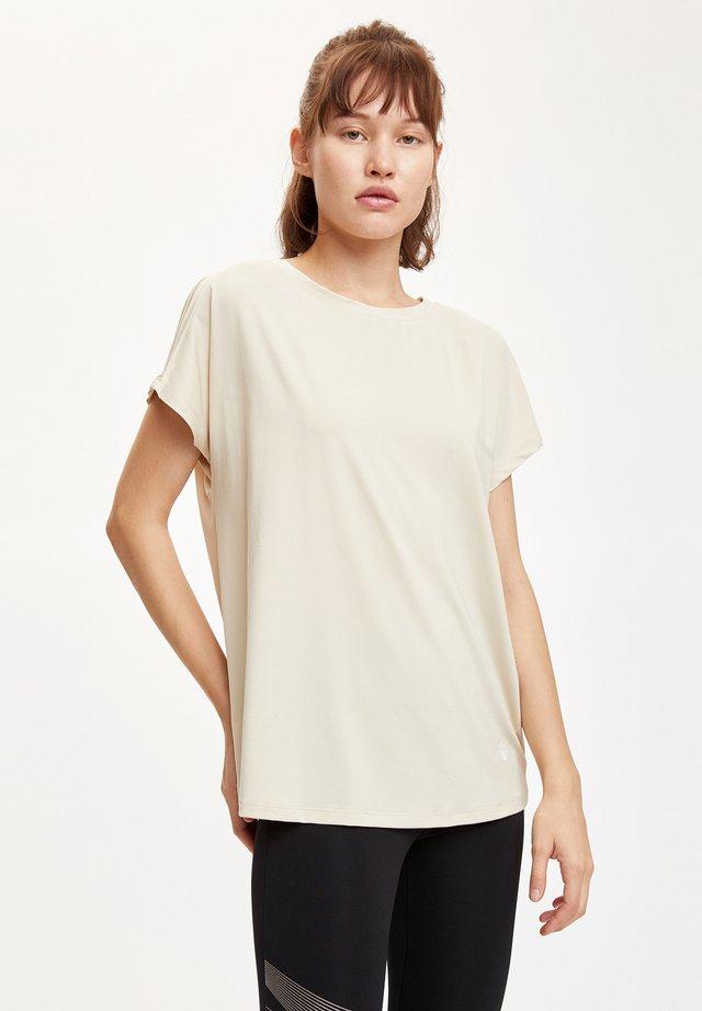 Camiseta básica - ecru