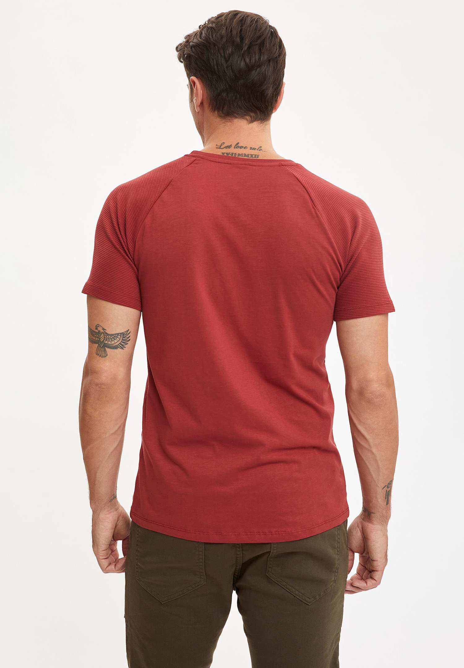 DeFacto Basic T-shirt - bordeaux kdQnx