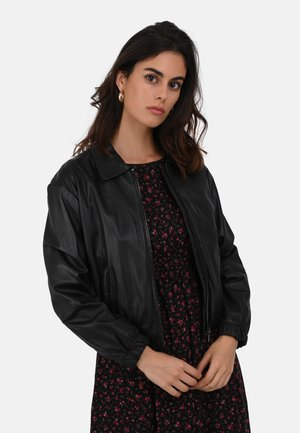 CLAUDIA - LEATHER JACKET - Giacca di pelle - black