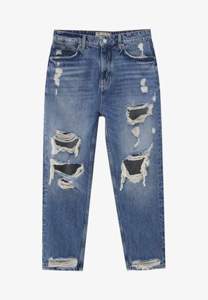 MIT PAISLEYPRINT - Jeans a sigaretta - royal blue