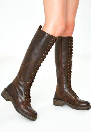 Platform boots - praline prn