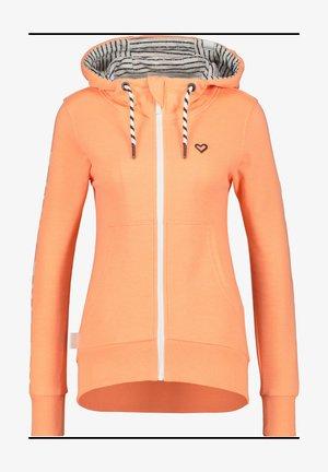 Zip-up sweatshirt - peach